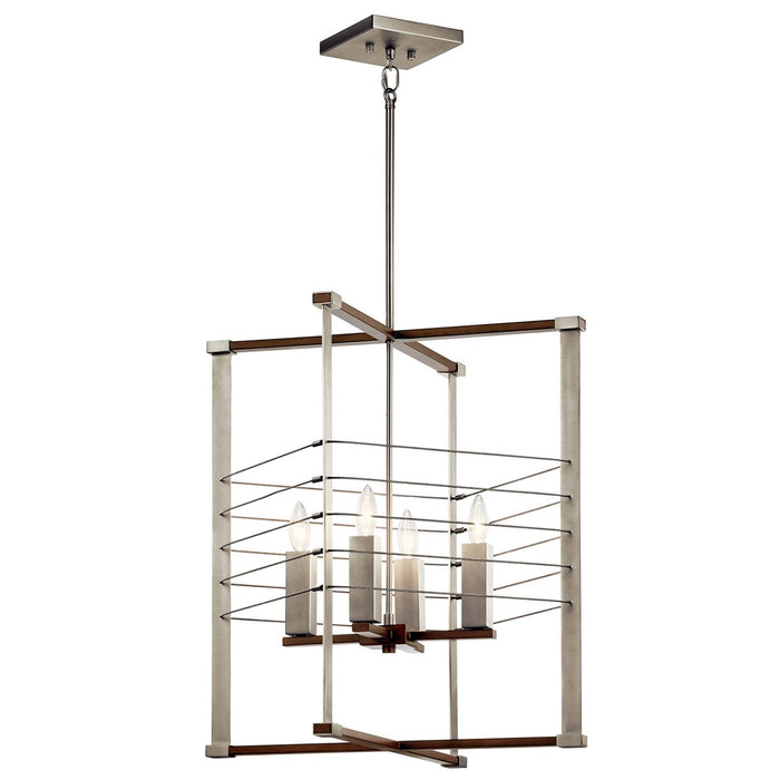 Lente(TM) 4 Light Foyer Pendant Brushed Nickel
