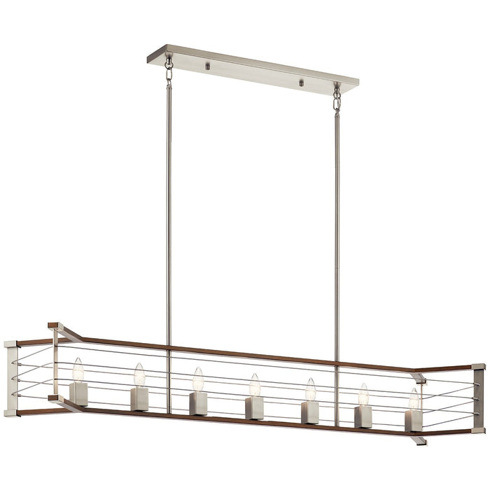 Lente 7 Light Linear Chandelier
