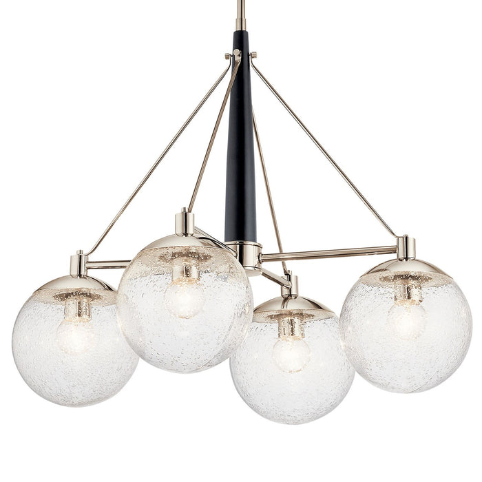 Marilyn 4 Light Chandelier Polished Nickel(TM)