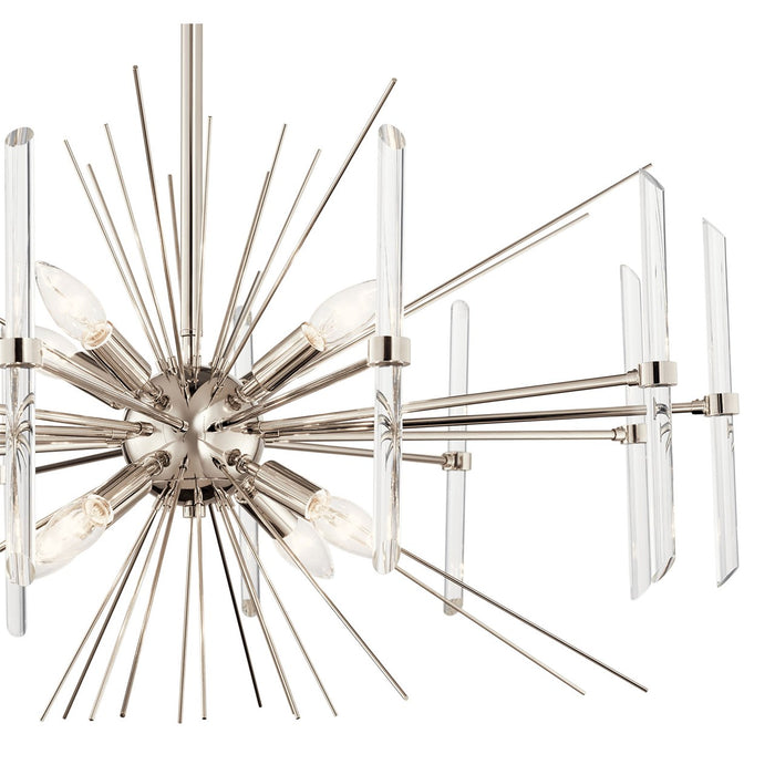 Eris(TM) 8 Light Chandelier Polished Nickel(TM)