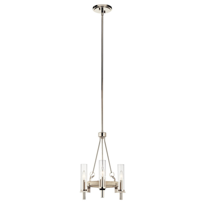 Telan 3 Light Chandelier White Washed Wood