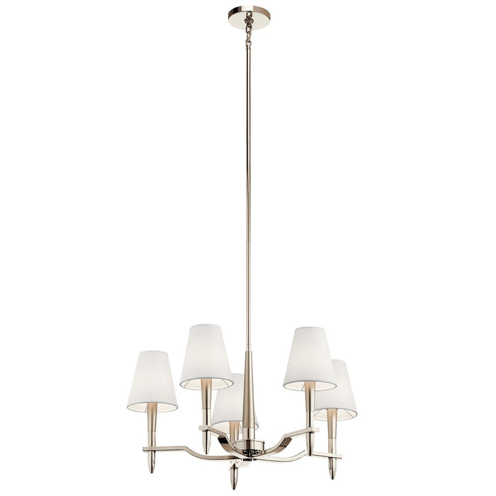 Kinsey(TM) 5 Light Chandelier Polished Nickel(TM)