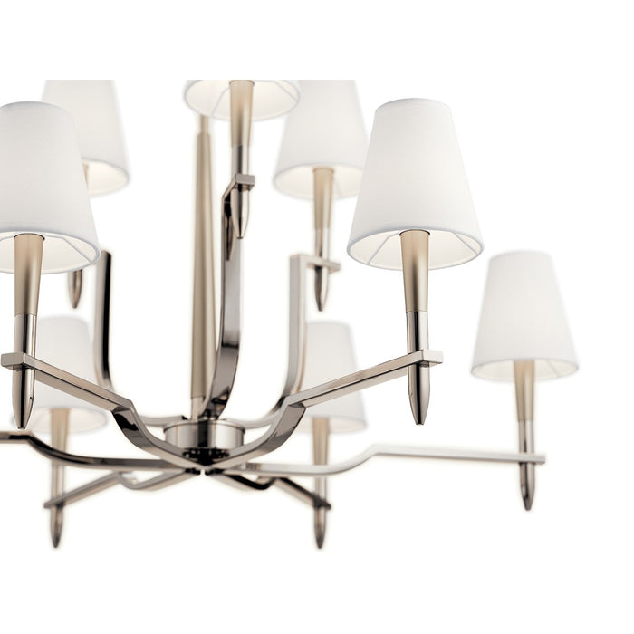 Kinsey(TM) 9 Light Chandelier Polished Nickel(TM)