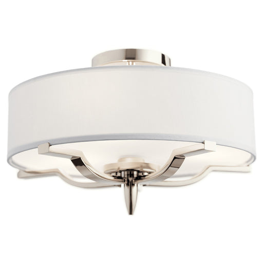 Kinsey(TM) 3 Light Flush Mount Polished Nickel(TM)