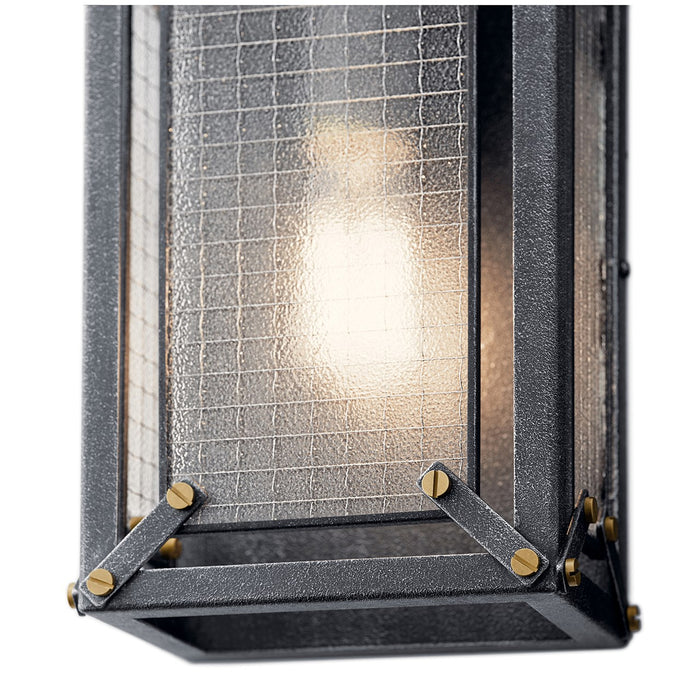 Steel 1 Light Wall Sconce Distressed Black