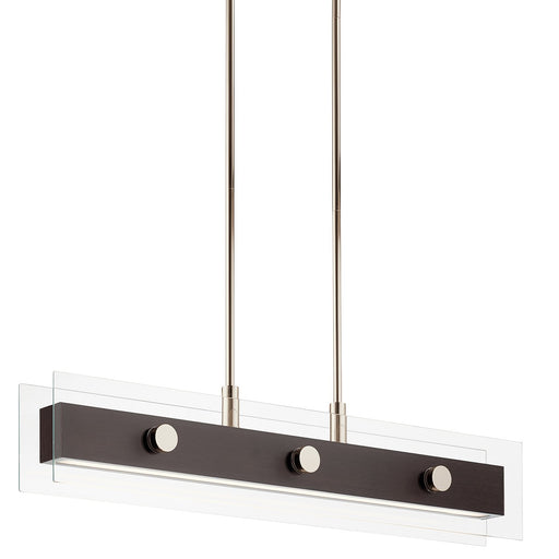 Tig 34in. LED 5 Light Linear Chandelier