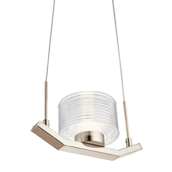 Lasus(TM) LED Mini Pendant Polished Nickel(TM)