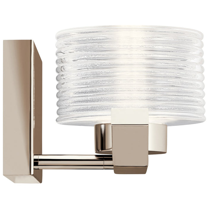 Lasus(TM) 1 Light LED Wall Sconce Polished Nickel(TM)