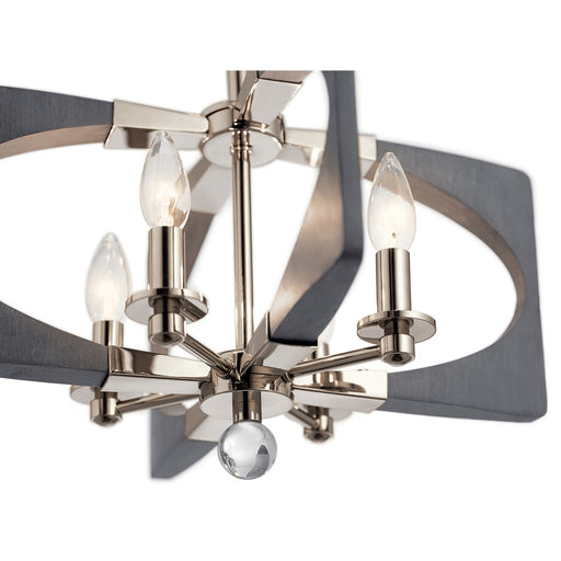 Alscar(TM) 4 Light Semi Flush Driftwood Grey