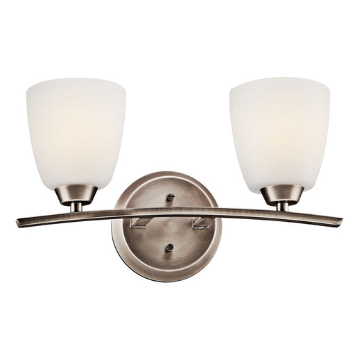 Granby 2 Light Vanity Light Brushed Pewter