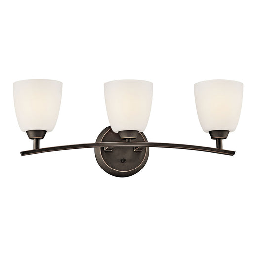 Granby 3 Light Vanity Light Brushed Pewter