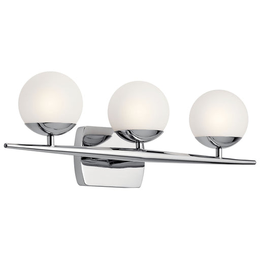 Jasper 3 Light Halogen Vanity Light Chrome