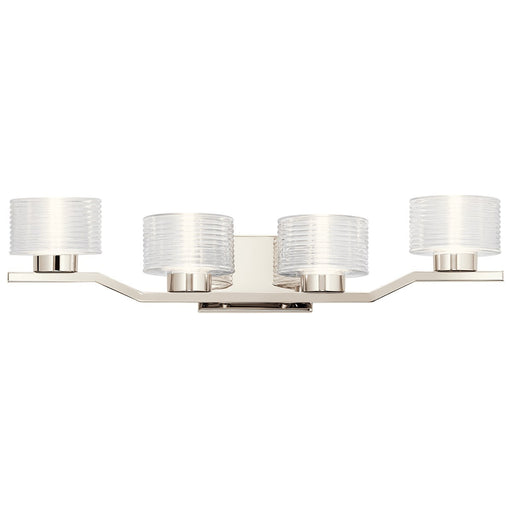 Lasus(TM) 4 Light LED Vanity Light Polished Nickel(TM)