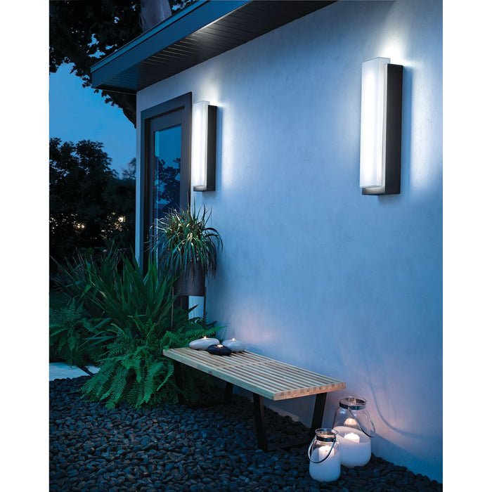 "Dahlia 25"" 2 Light Outdoor Wall LED"