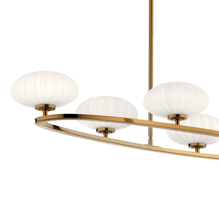 Pim 6 Light Oval Chandelier