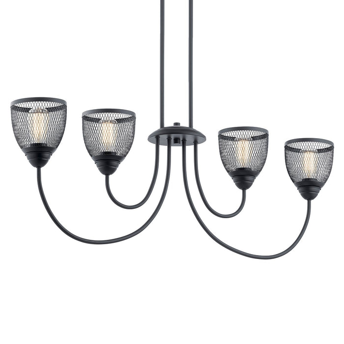 Voclain 4 Light Linear Chandelier