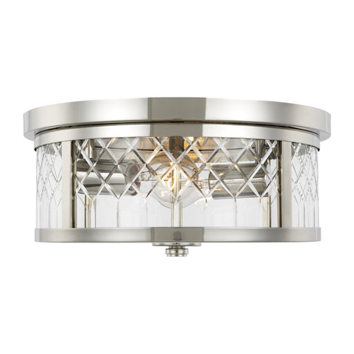 Alec Two Light Flush Mount