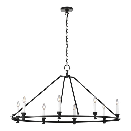 Keystone Eight Light Oval Chandelier