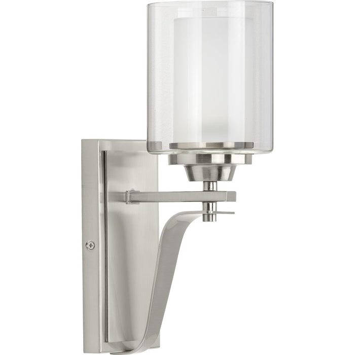 Kene Collection Brushed Nickel One-Light Wall Bracket