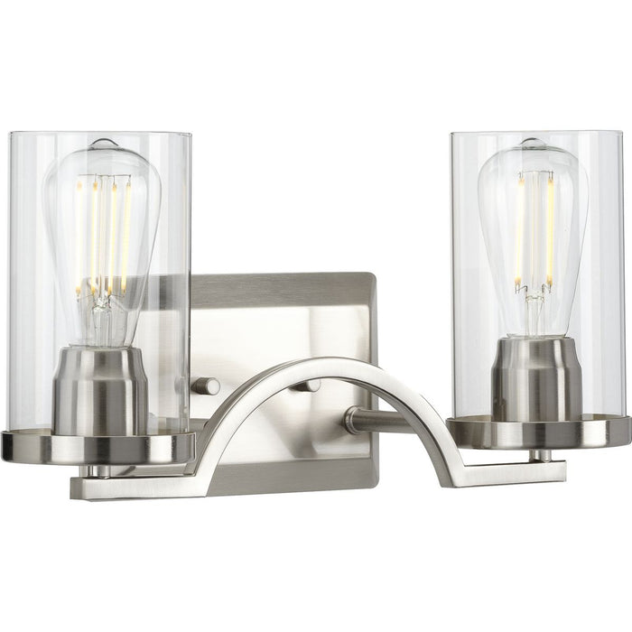 Lassiter Collection Brushed Nickel Two-Light Bath