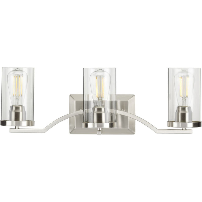 Lassiter Collection Brushed Nickel Three-Light Bath