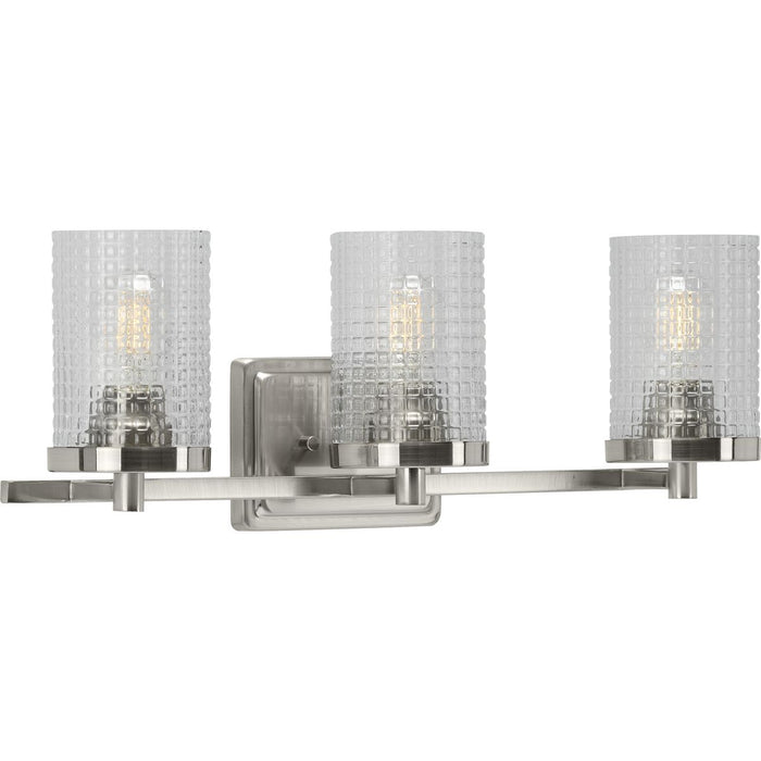 Fawcett Collection Brushed Nickel Three-Light Bath