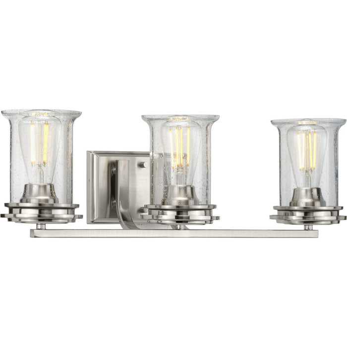 Winslett Collection Brushed Nickel Three-Light Bath