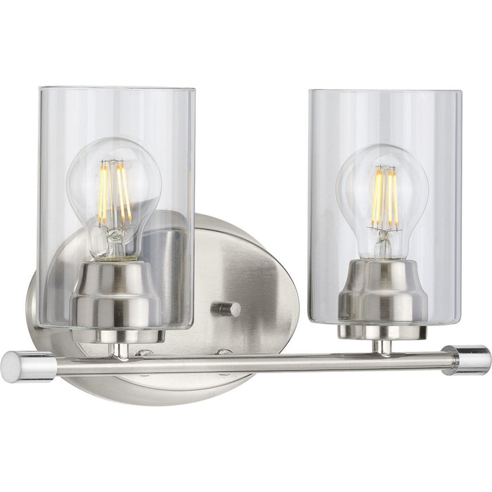 Riley Collection Brushed Nickel Two-Light Bath