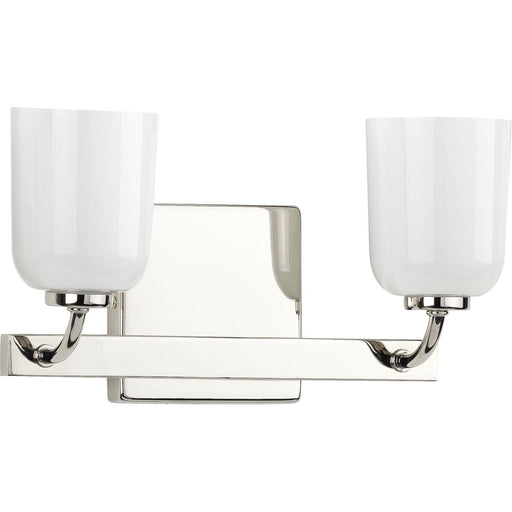 Moore Collection Brushed Nickel Two-Light Bath