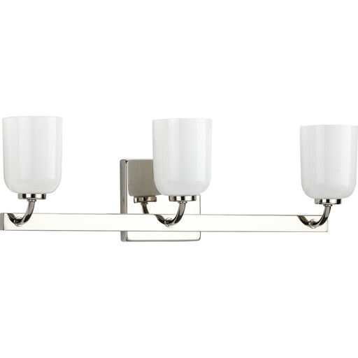 Moore Collection Brushed Nickel Three-Light Bath