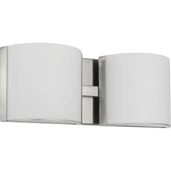Arch LED Collection Brushed Nickel Two-Light LED Bath
