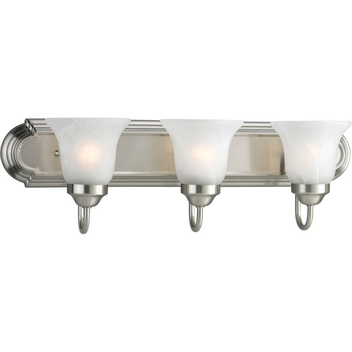 Alabaster Glass Three-Light Bath & Vanity