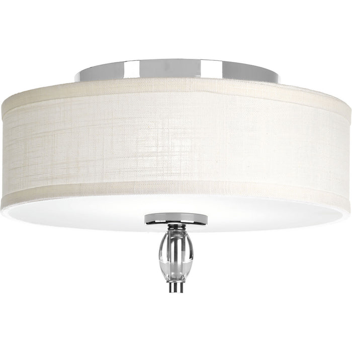 "Status Collection 13"" Two-Light Flush Mount"