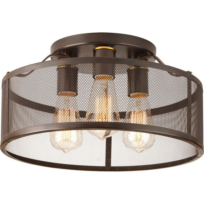 "Swing Collection Three-Light 15"" Flush Mount"