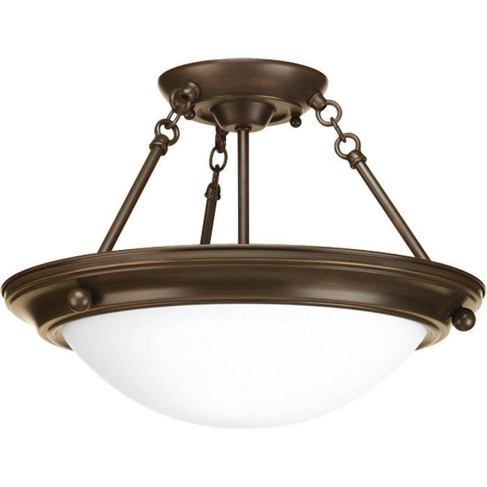 "Eclipse Collection Two-Light 15-1/4"" Semi-Flush"