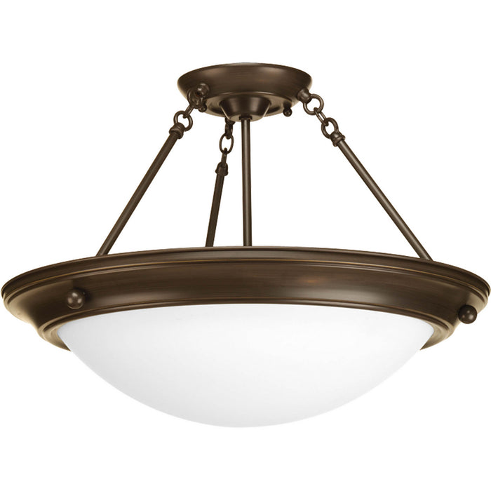 "Eclipse Collection Three-Light 19-3/8"" Semi-Flush"