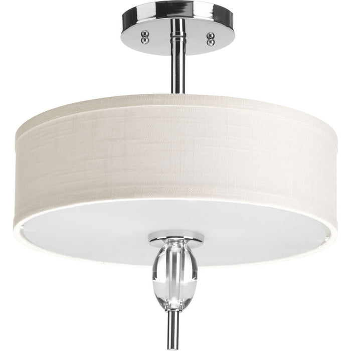 "Status Collection Two-Light 13"" Semi Flush Mount"