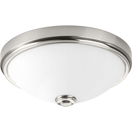 "One-Light 11"" LED Linen Glass Flush Mount"