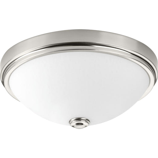 "One-Light 13"" LED Linen Glass Flush Mount"