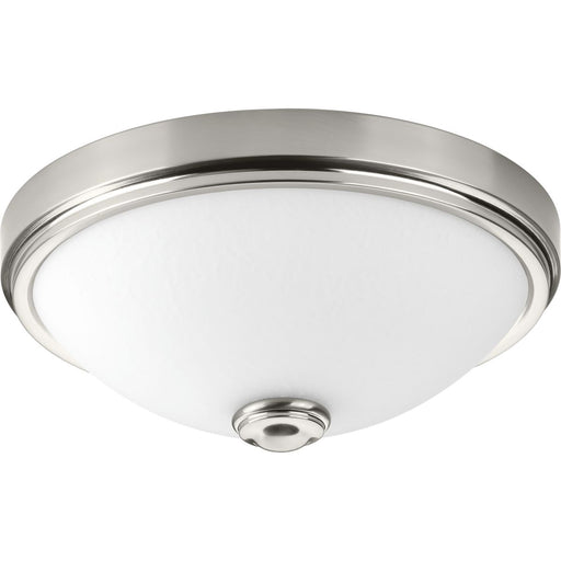 "One-Light 15"" LED Linen Glass Flush Mount"