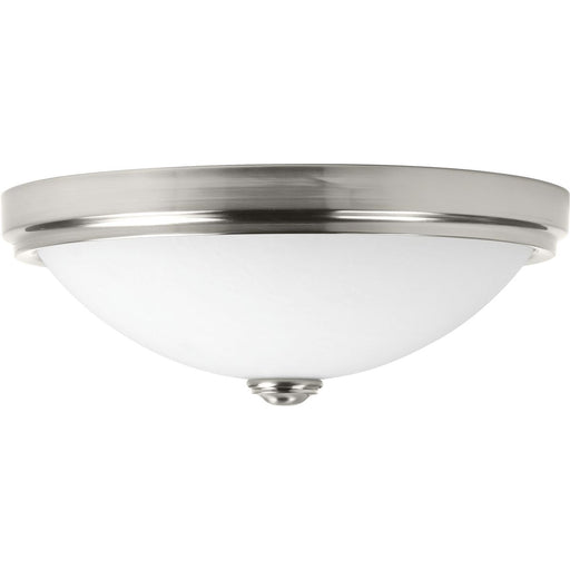 "One-Light 19"" LED Linen Glass Flush Mount"