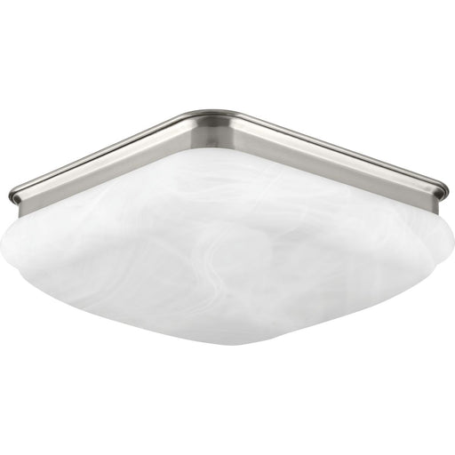 "One-Light 11-3/8"" LED Square Glass Flush Mount"