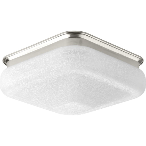 "One-Light 11-1/2"" LED Square Glass Flush Mount"