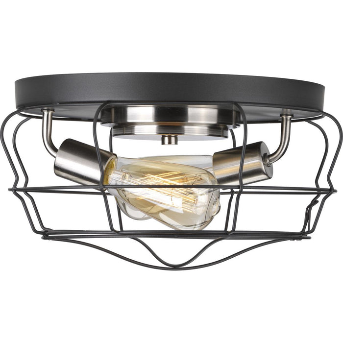 Gauge Collection Two-Light Flush Mount