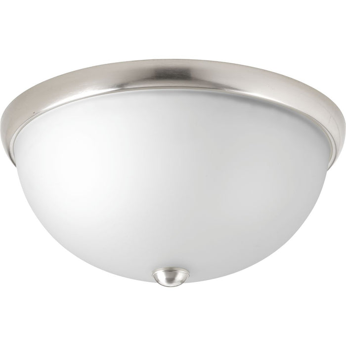 "Two-Light 14"" Glass Dome Flush Mount"