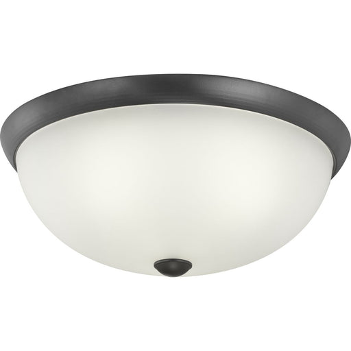 "Three-Light 16-1/2"" Glass Dome Flush Mount"