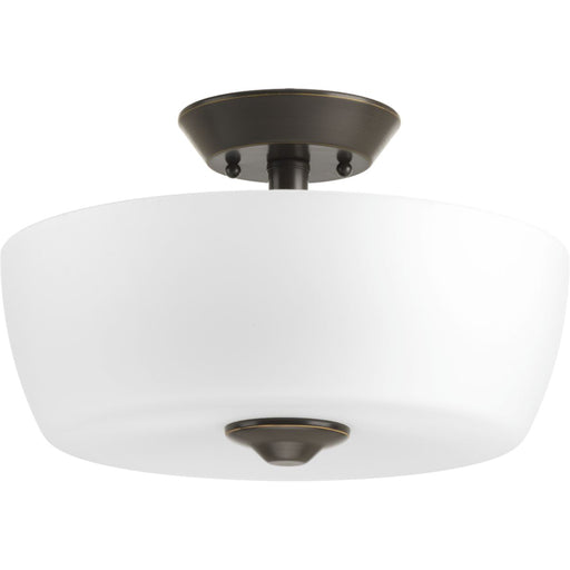 "Leap Collection Two-Light 14"" Semi-Flush Mount"