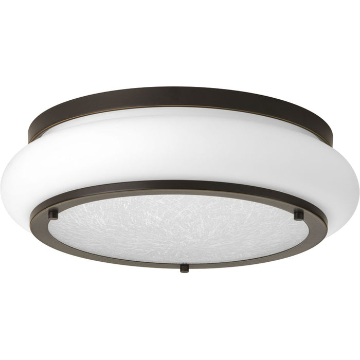 "One-Light 15"" LED Opal-Linen Flush Mount"