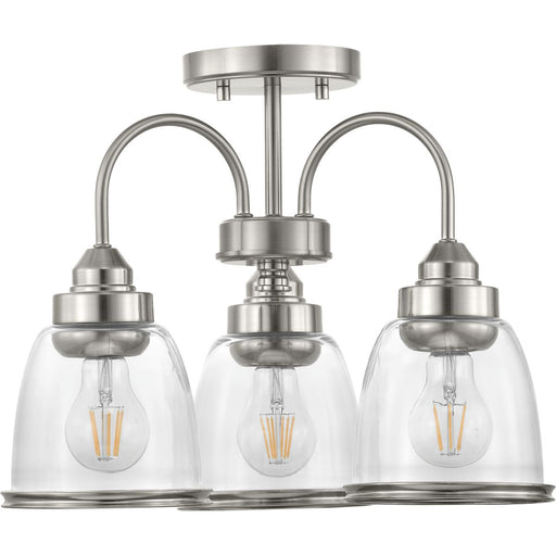 "Saluda Collection 18"" Three-Light Semi-Flush Convertible"
