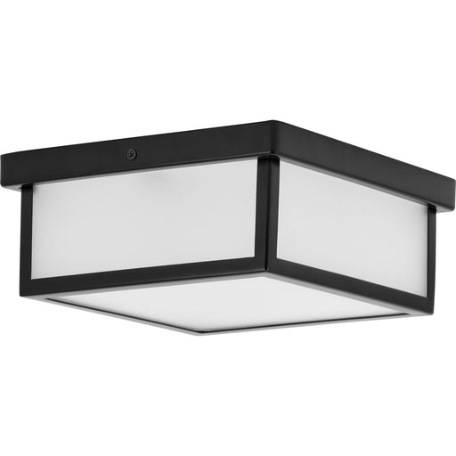 "Box LED Brushed Nickel One-Light 10"" LED Flush Mount"